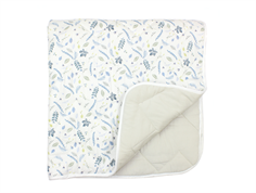 Cam Cam blanket baby pressed leaves blue