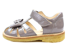 Angulus sandal light gray lacquer with bow