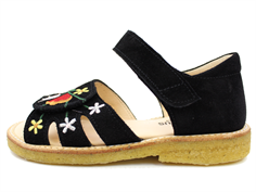 Angulus sandal black with flowers (narrow)