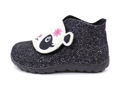 Superfit Happy slippers Schwarz with mica or panda
