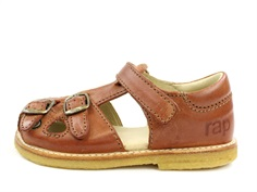 Arauto RAP sandal cognac tuscany with buckles and velcro