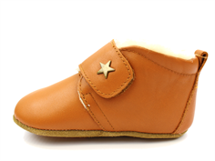 Bisgaard slippers cognac star and wool