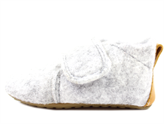 Pom Pom slippers gray wool