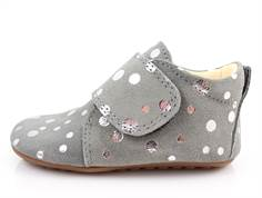 Pom Pom slippers gray/silver dot
