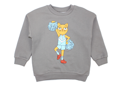 Mini Rodini sweatshirt cheercat gray