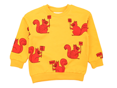 Mini Rodini sweatshirt squirrel yellow