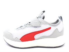 Puma sneaker Neko white/castle rock/red