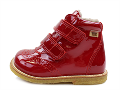 Bisgaard winter boot red lacquer with velcro and TEX