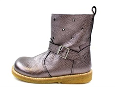 Angulus winter boot black/champagne with stars and TEX