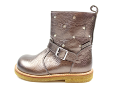 Angulus winter boot bronze/champagne with stars and TEX