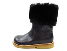 Angulus winter boots black furry with TEX