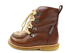 Angulus winter boot cognac/beige zipped and TEX