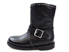Angulus winter boot black with studs and TEX