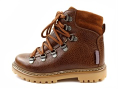 Angulus winter boot cognac with laces and TEX
