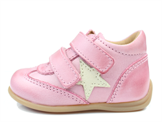 Bisgaard toddler shoe rose with star and velcro