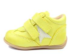 Bisgaard toddler shoe yellow with star and velcro