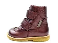 Angulus winter boot burgundy shine with TEX