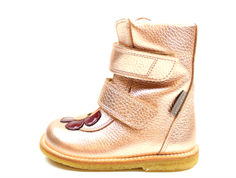 Angulus winter boot light copper/peach flower and TEX