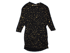 Soft Gallery dress Vigdis jet black flakes gold