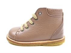 Angulus winter toddler shoe dark rose brown with wool lining