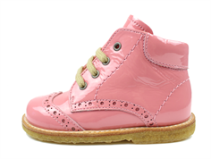 Angulus toddler shoe bright rose varnish with laces