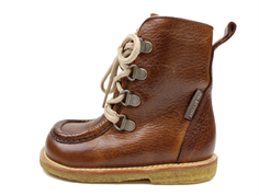 Angulus winter boot redbrown with zip and TEX