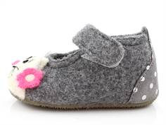 Living Kitzbühel slippers gray with cat