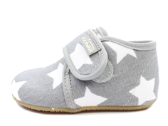 Living Kitzbühel slippers gray with white stars