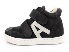 Angulus sneaker anthracite gray/white with velcro