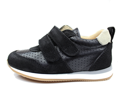 Angulus sneaker black/beige with velcro