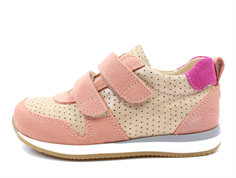 Angulus sneaker rose/copper/purple with velcro