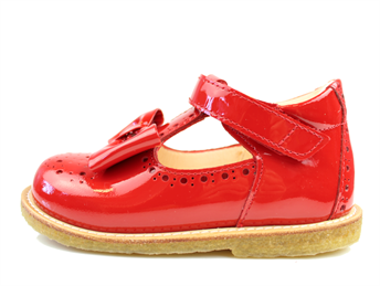 Angulus shoe red patent leather with bow