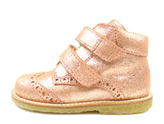 Angulus toddler shoe copper glitter with velcro