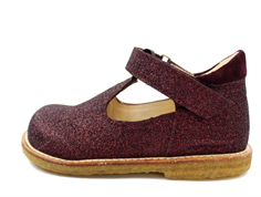 Angulus shoes burgundy glitter
