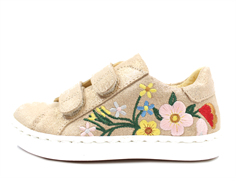 Angulus sneaker copper glitter with flowers