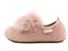 Living Kitzbühel slippers woodrose with pom pom
