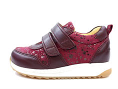 Angulus sneaker maroon dot with velcro