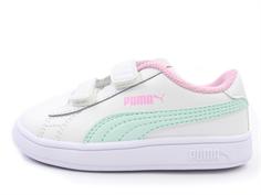 e45018c665c7 Puma Smash sneaker white fair aqua pale pink