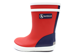Aigle Baby Flac rubber boot rouge indigo blanc