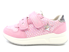 Superfit sneaker Merida pink with silver stars