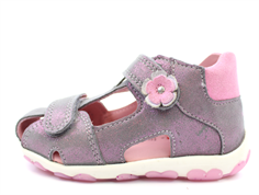 Superfit Fanni sandal hellgrau/pink with flowers