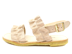 Angulus sandal copper glitter with ruffles