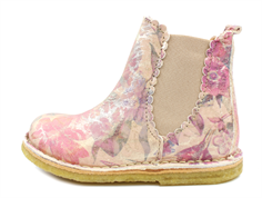 Bisgaard ancle boot cream flowers with zip