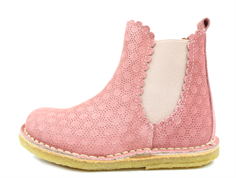 Bisgaard ancle boot rose suede zippered