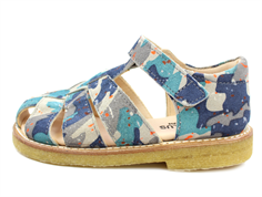 Angulus sandal blue camouflage with velcro