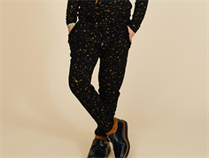 Soft Gallery pants Lucy jet black flakes gold