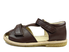 Pom Pom sandal brown with velcro