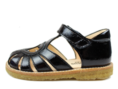 Angulus sandal black patent leather with heart