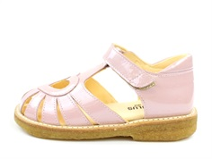 Angulus sandal pale rose patent with heart (narrow)