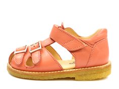 Angulus sandal light coral with buckles and velcro